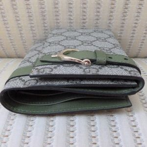 Gucci Bags - Gucci GG Supreme Canvas and Leather Compact Wallet